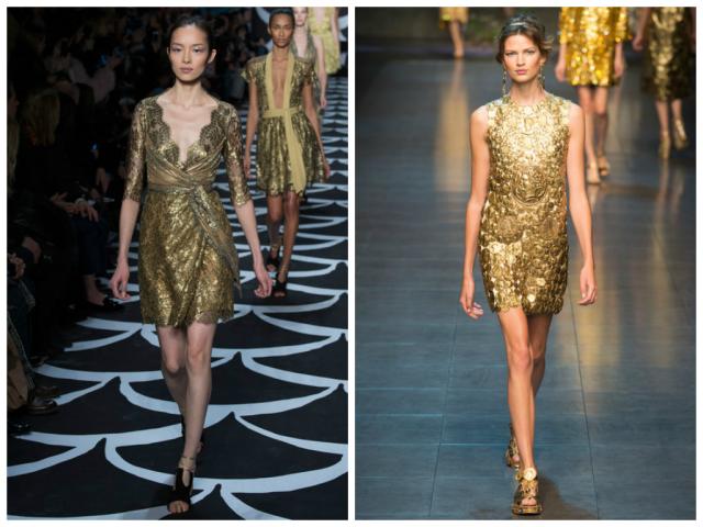 1. Dian Von Furstenberg 2. Dolce&Gabbana